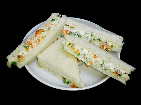 Cream Cheese Sandwiches || Cream Cheese Bread Sandwiches with Cucumber