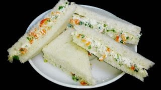 Cream Cheese Sandwiches || Cream Cheese Bread Sandwiches with Cucumber
