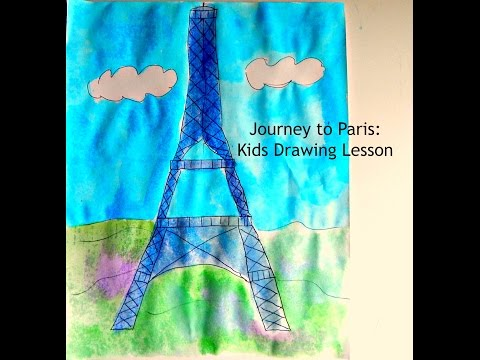 Joseys Art School Episode #105 Eiffel Tower Paris Kids Drawing Lesson Art Lesson for Kids