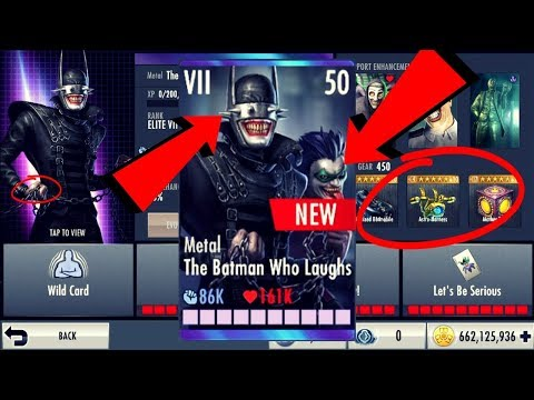 Metal The Batman Who Laughs! Injustice Gods Among Us 3.0! iOS/Android!