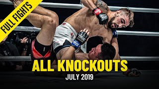 All Knockouts In July 2019 | ONE Full Fights