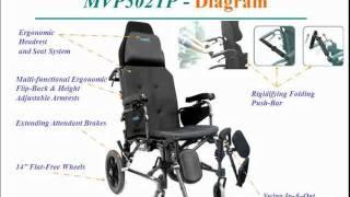 Karma MVP-502 Recliner Wheelchair Series Karman Healthcare Video
