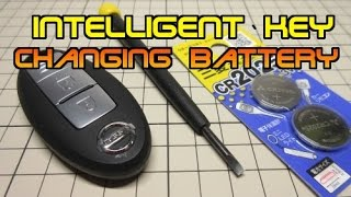 nissan Intelligent key  changing battery