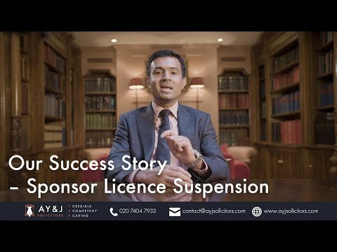 Success Story – Sponsor Licence Suspension
