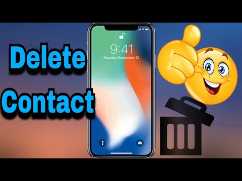 Iphone How To Delete Contact From Iphone Ios