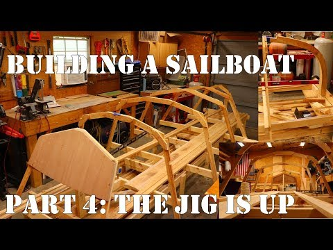 Building a Wooden Sailboat. Part 4: Jig & Frame Assembly