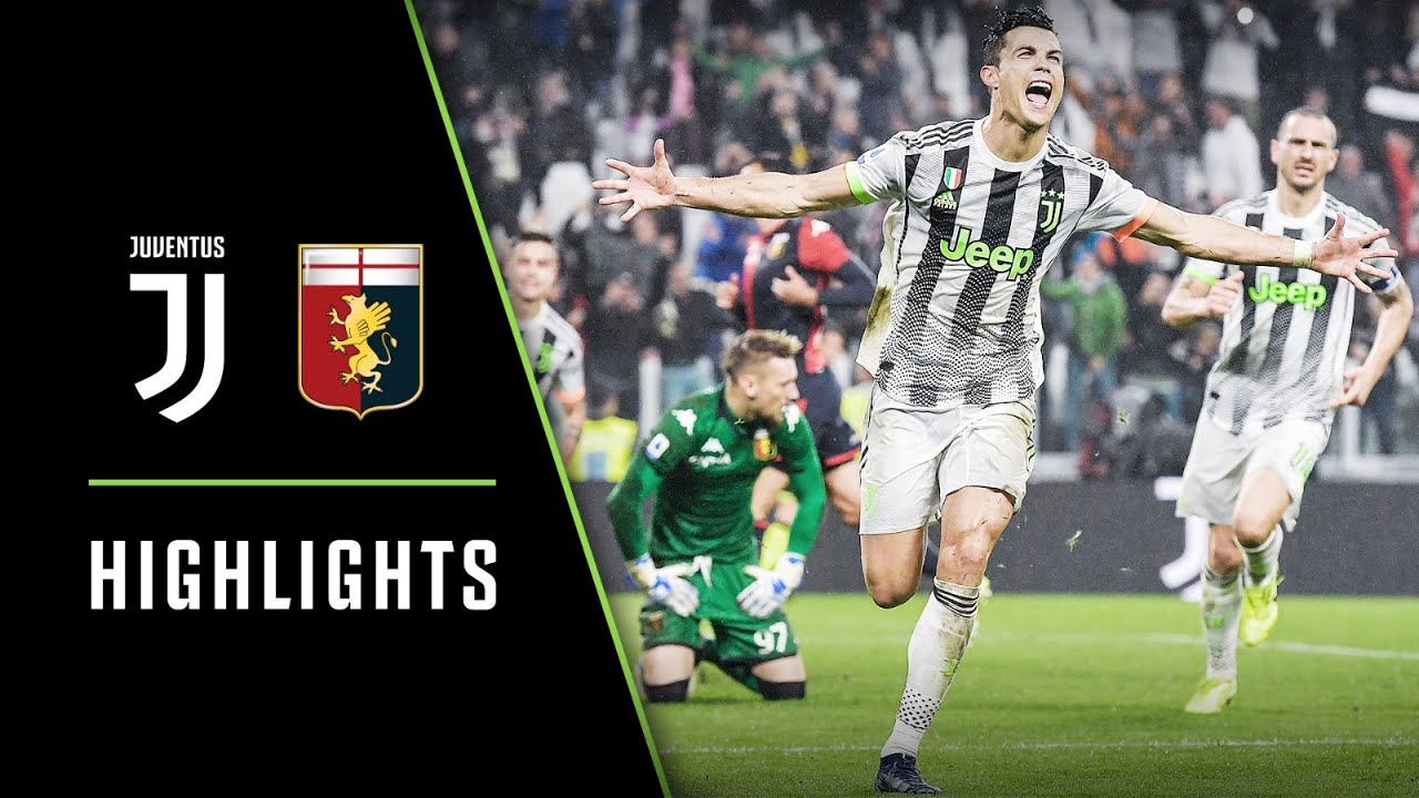 Highlights Juventus Vs Genoa 2 1 Ronaldo S Last Minute Winner Youtube