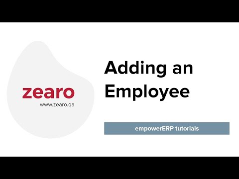 How to Add an Employee in EmpowerERP