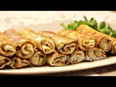Savory Crepes With Mushroom Filling Recipe - VideoCulinary
