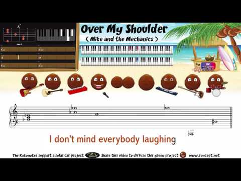 How to play : Over My Shoulder (Mike & the Mechanics) - Tutorial / Karaoke / Chords / Score / Cover