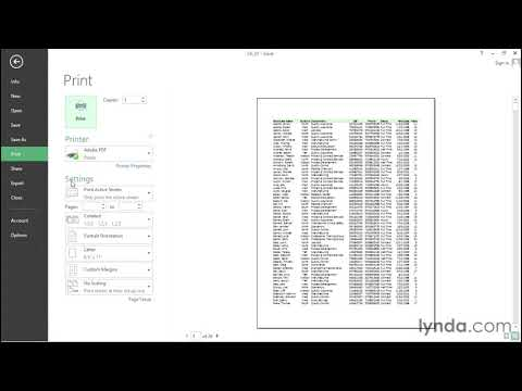 Display a print preview instantly | Excel | lynda.com