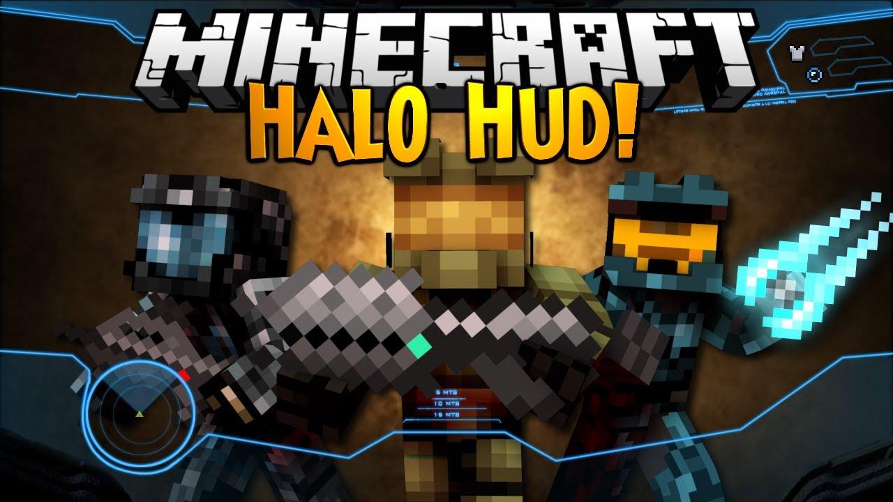 Minecraft Mod Showcase Halo Hud Youtube