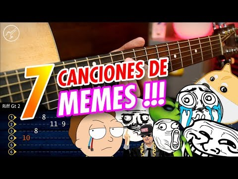 7 Canciones de MEMES para Guitarra | MEME SONGS ON GUITAR | Christianvib