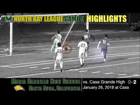2018 1 26 HIGHLIGHTS Game 9: Maria Carrillo Varsity Soccer v Casa Grande