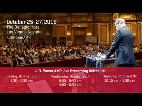 Opening Session Day Two - J.D. Power AMR Live - 10/26/16