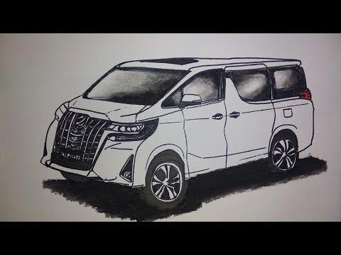 Menggambar Mobil Toyota Alphard Drawing Toyota Alphard Cars Youtube