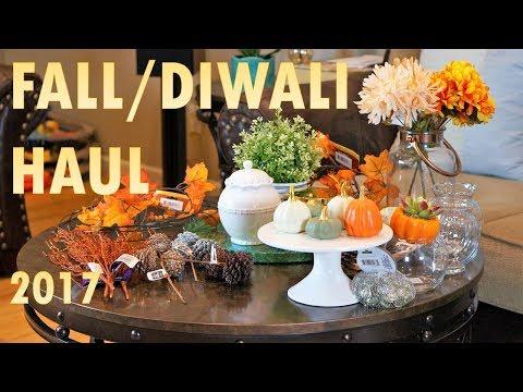 FALL DIWALI HAUL 2017| Target & Dollar Tree Haul | Home Decor | Living Room Decor