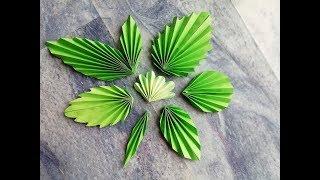 как сделать листья из бумаги своими руками видео для розы