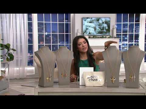 Dogeared Treasure Cluster Necklace and Pouch on QVC