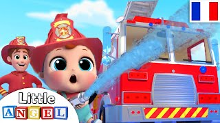Le Camion de Pompier - Au Feu - Comptines avec les voitures et les camions pour bébé et les enfants