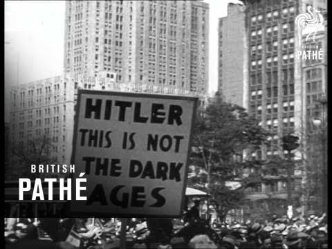 Jewish Demonstration Against Hitler - New York (1935)