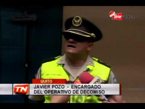 Policía decomisó fuegos artificiales en el centro de la capital