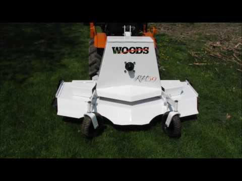 Woods RM59 Mower - YouTube