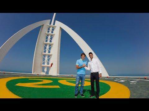 Roger Federer and Novak Djokovic Interview on Burj Al Arab Helipad