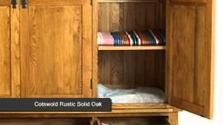 Cotswold Rustic Solid Oak Triple Wardrobe