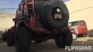 """2013 Jeep Wrangler Rubicon 3"""" Cherry Bomb exhaust clips"""