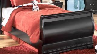 Ashley Huey Vineyard 4-piece Sleigh Bedroom Set In Black