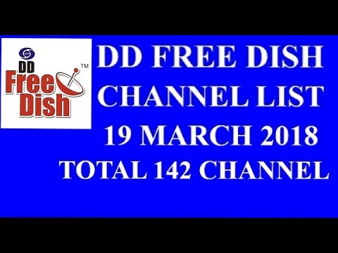 DD free dish channel update as on 19 march 2018