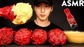 ASMR CHEESY NUCLEAR FIRE FRIED CHICKEN MUKBANG (No Talking) COOKING & EATING SOUNDS | Zach Choi ASMR