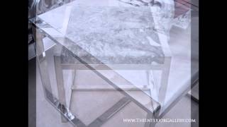 Modern Marble Top End Table - Enna Ii
