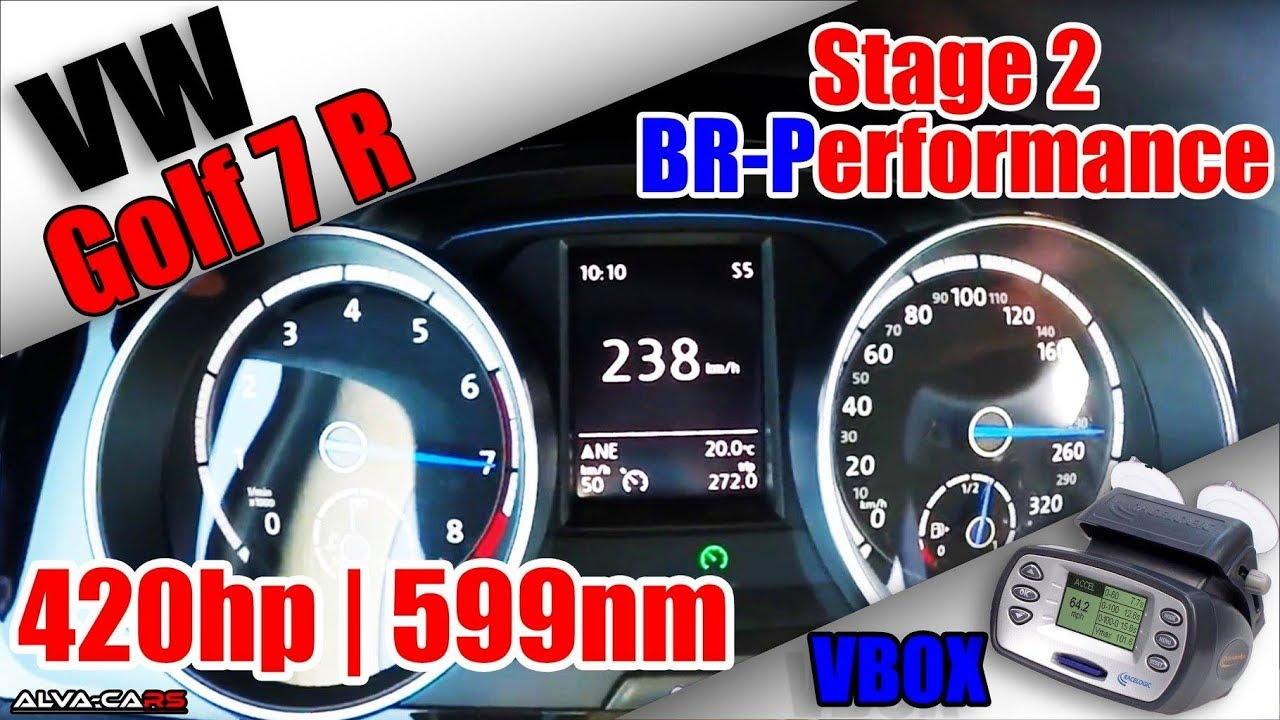 vw golf 7r 420hp 599nm stage 2 br performance 100 200km h vbox youtube. Black Bedroom Furniture Sets. Home Design Ideas