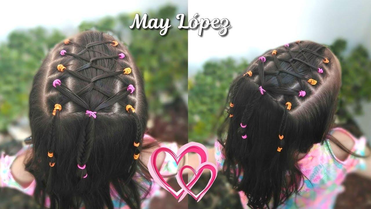 Peinado Facil Y Bonito Con Ligas Para Ninas Peinados Para La