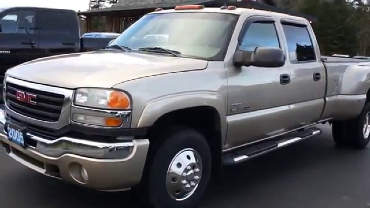 2005 GMC SIERRA 3500 SLT DUALLY DURAMAX DIESEL 4X4 AT ...