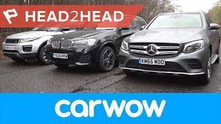 Mercedes GLC vs Range Rover Evoque vs BMW X3 SUV 2017 review | Head2Head(, 2016-05-20T10:12:18.000Z)