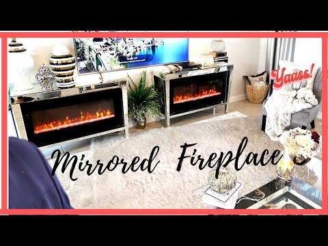 HIGHLY REQUESTED MIRRORED FIREPLACE || 3 DIYs