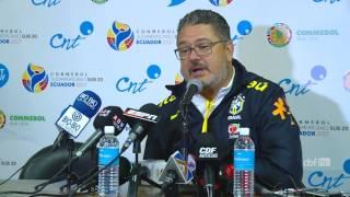 Brasil Sub-20 1 x 0 Equador: coletiva do técnico Rogério Micale