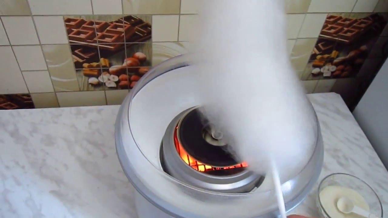 Как делают сахарную вату