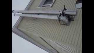 Дымоход для газового котла. Видео дымоход(Выполнен монтаж дымохода для котла. Так же установлена система вентиляции для помещения с газовым оборудов..., 2014-01-16T14:37:39.000Z)