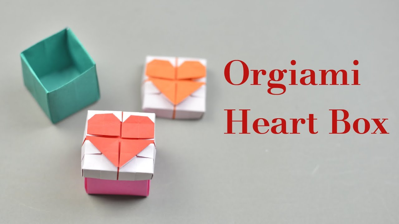 Origami Heart Box with Lid Instruction | Easy DIY - YouTube - photo#41