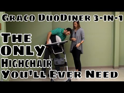 The Only Highchair You'll Need for ALL Stages- Graco DuoDiner 3-in-1 Convertible Highchair Review