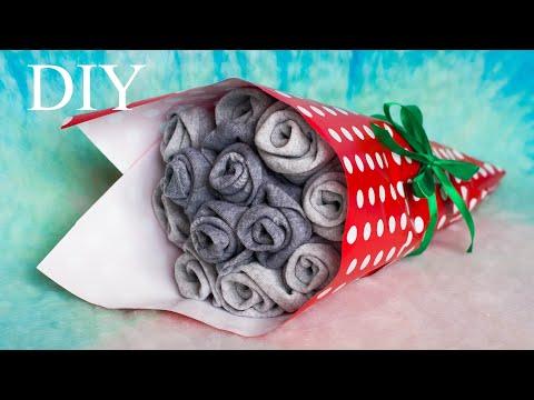 DIY sock bouquet   БУКЕТ из НОСКОВ. ПОДАРОК на 23 ФЕВРАЛЯ