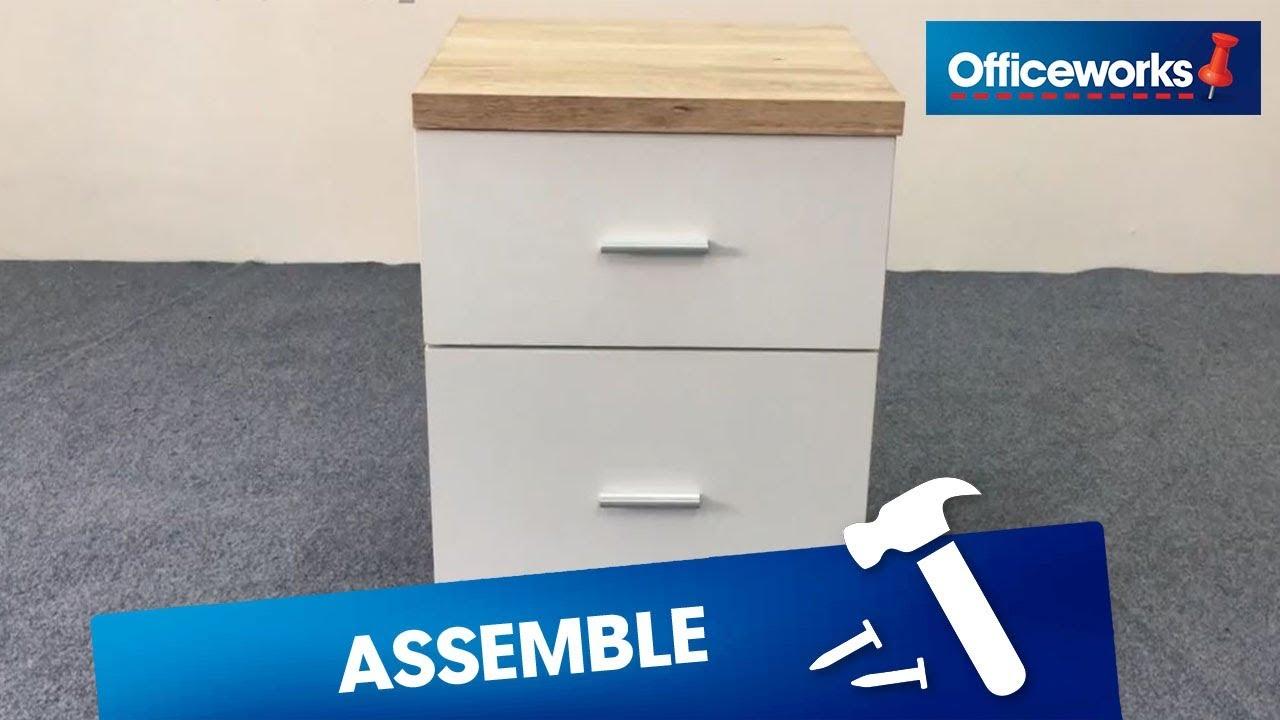 Sorrento 2 Drawer Pedestal Assembly Instructions