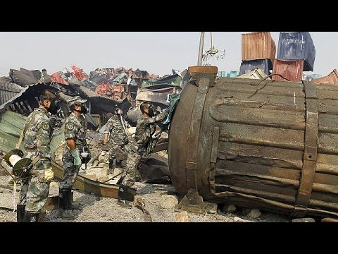 China: Clean up begins at chemical blast site