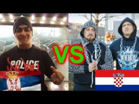 SRPSKI RAP VS HRVATSKI RAP - SERBIAN RAP VS CROATIAN RAP