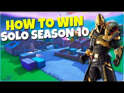 How To Win Your 1st Solo in Fortnite Season 10 | Battle Royale Tips!