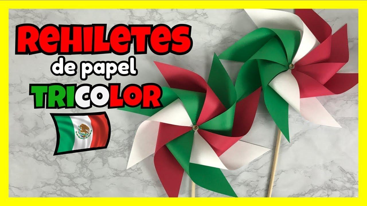Como Hacer Rehiletes De Papel Rehiletes Tricolor Creativa Official